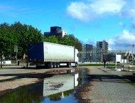 transport ciężarówką